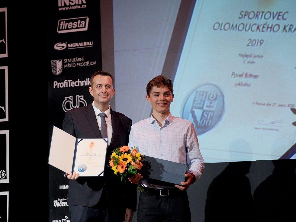 Vyhlášení Sportovce Olomouckého kraje za rok 2019 v Městském domě v Přerově. Pavel Bittner, 2. nejlepší junior