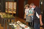 Výstava hub v přerovském klubu Teplo za protikoronavirových opatření, září 2020