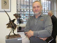 Výstava děl sochaře a uměleckého kováře Igora Kitzbergera ve výstavní síni Pasáž v Přerově
