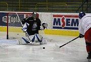 Česká hokejová reprezentace na úterním tréninku seznamovacího kempu v Přerově. Lukáš Klimeš