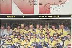 Titulní straně 11. srpna 1995 dominovala společná fotka hokejistů s Jaromírem Jágrem v přerovských barvách.