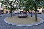 Vizualizace nové podoby okolí studny na Horním náměstí v Přerově