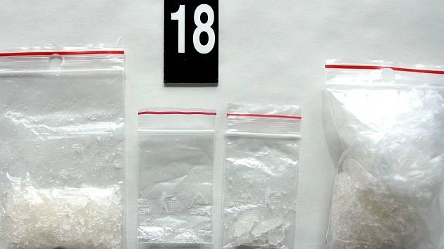 Zadržené drogy u jednoho z trojice dealerů pervitinu z Přerovska
