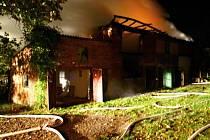 Požár stodoly v Císařově