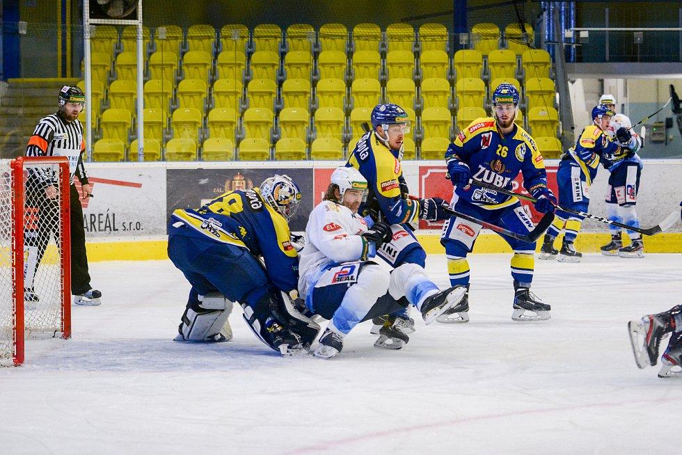 Hokejisté Přerova (v modrém) proti Kladnu.