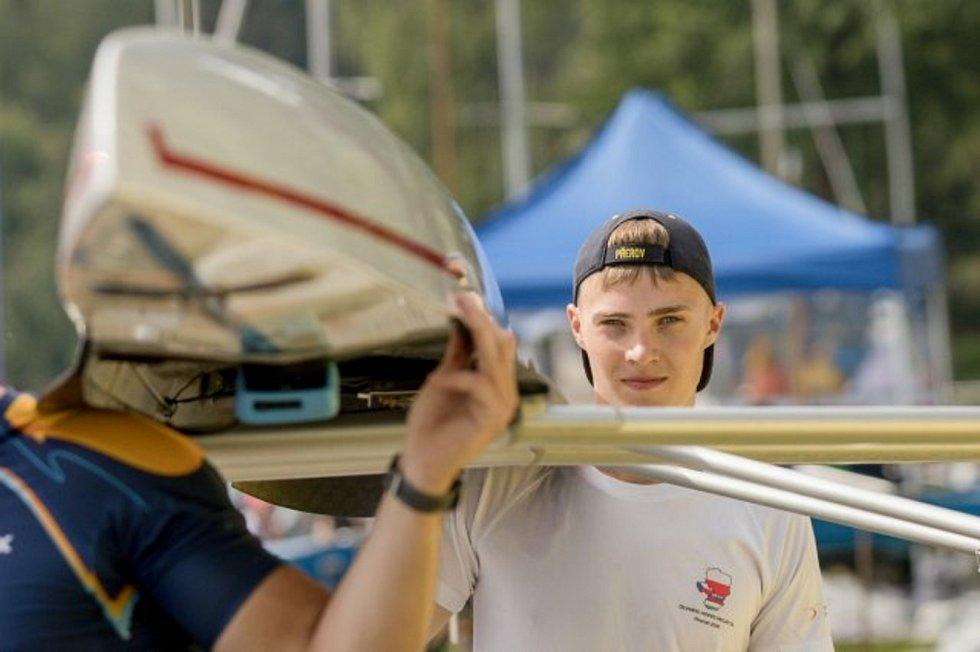 Přerovští veslaři na mistrovství Moravy. Tomáš Gajdušek