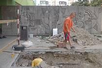 Stavební úpravy u základní školy Trávník v Přerově