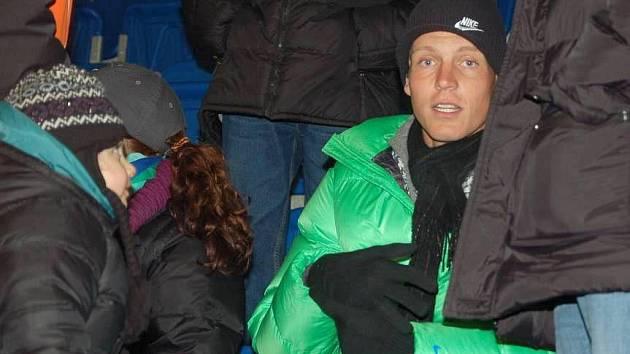 Tomáš Berdych na hokejovém zápase v Přerově mezi domácími Zubry a Novým Jičínem