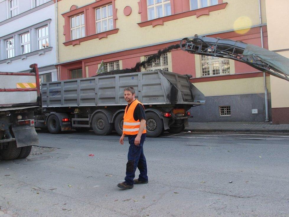 Frézování Bratrské ulice v Přerově