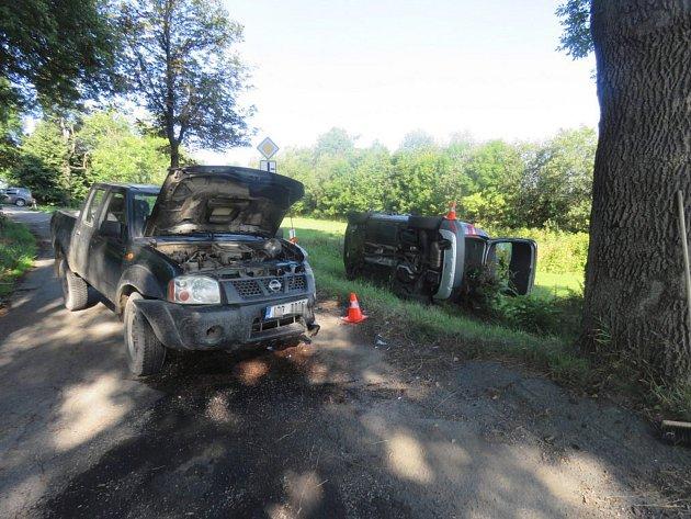 Nehoda, ke které došlo v úterý ráno v Luboměři pod Strážnou, si naštěstí nevyžádala vážnější zranění.