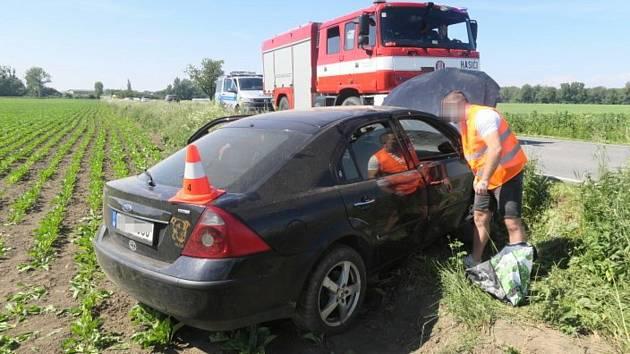 Nehoda mezi Grymovem a Kozlovicemi