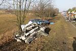 Vážná dopravní nehoda na silnici mezi Staměřicemi a Skoky