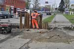Přerov bude v následujících měsících rozkopaný kvůli výměně potrubí - stavba začala v těchto dnech například v ulici Čapky Drahlovského