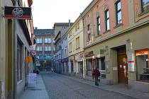 Obchody v centru Přerova. 22. dubna 2020