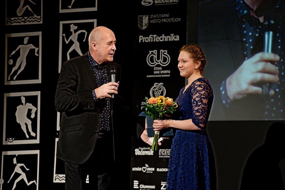 Vyhlášení Sportovce Olomouckého kraje za rok 2019 v Městském domě v Přerově.  Kateřina Korgerová