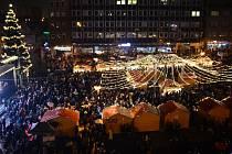 Vánoční trhy na náměstí TGM v Přerově. Ilustrační foto