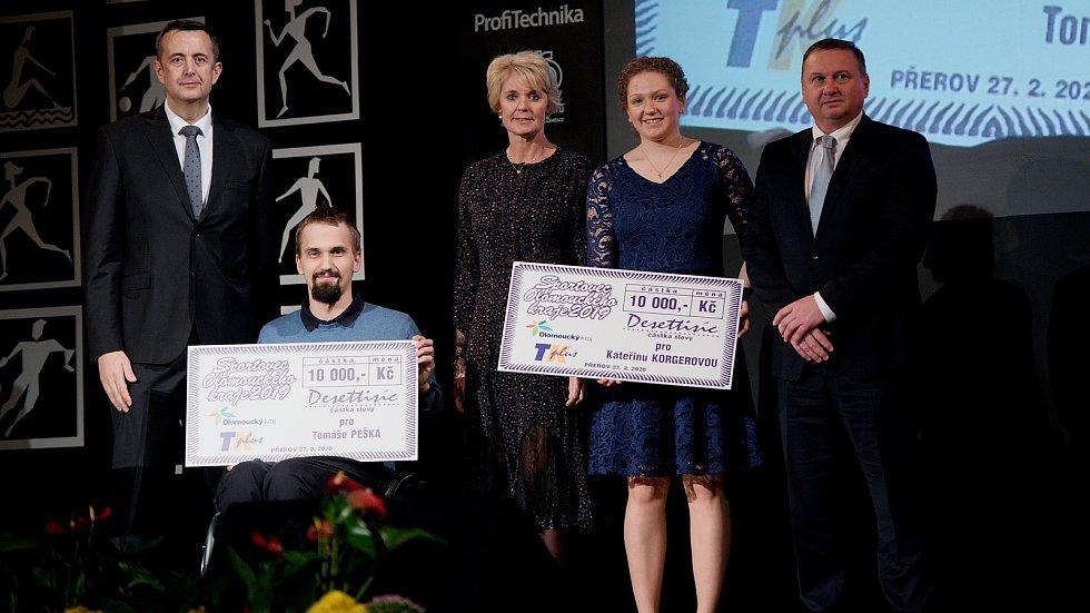 Vyhlášení Sportovce Olomouckého kraje za rok 2019 v Městském domě v Přerově.