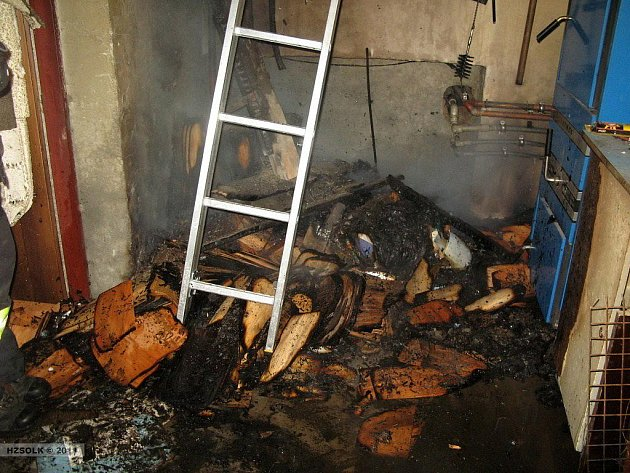 Požár kotelny ve Velkém Újezdě
