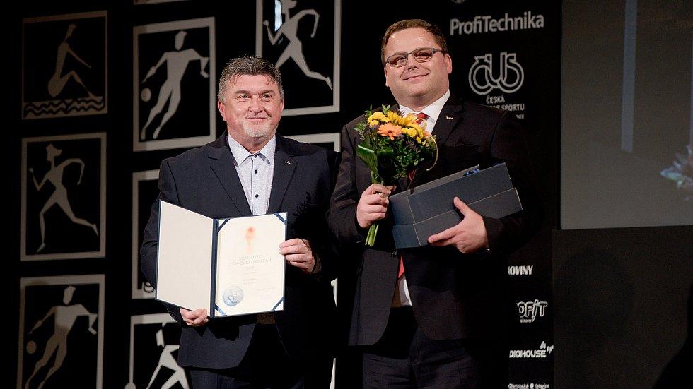Vyhlášení Sportovce Olomouckého kraje za rok 2019 v Městském domě v Přerově.  Tomáš Jurka, nejlepší trenér