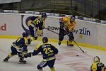 Přerovští hokejisté (v modrém) v rámci 6. kola skupiny D Generali Česká Cup ve čtvrtek prohráli ve Zlíně 1:4.