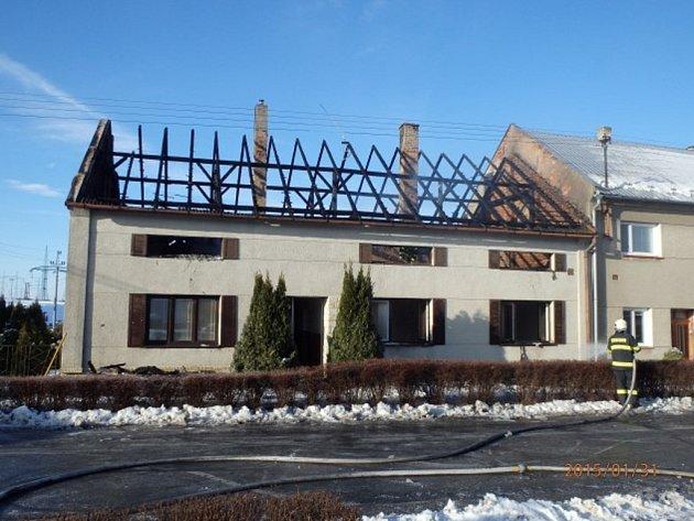 Požár domu v Beňově