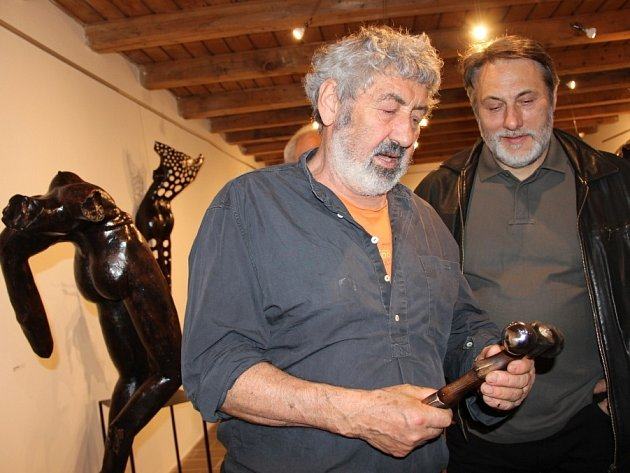 Vernisáž výstavy děl italského uměleckého kováře a sochaře Maria Converia na Helfštýně