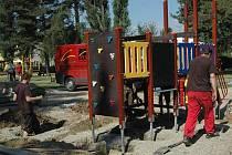 Hřiště v parku Michalov dostává nové herní prvky