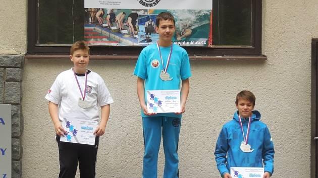 René Vašíček (uprostřed) z KSP Skorpen Přerov