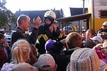 Policisté na návštěvě u dětí v Rokytnici