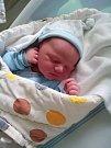 Vojtěch Urban, Přerov, narozen dne 20. září v Olomouci, míra 52cm, váha 3850 g