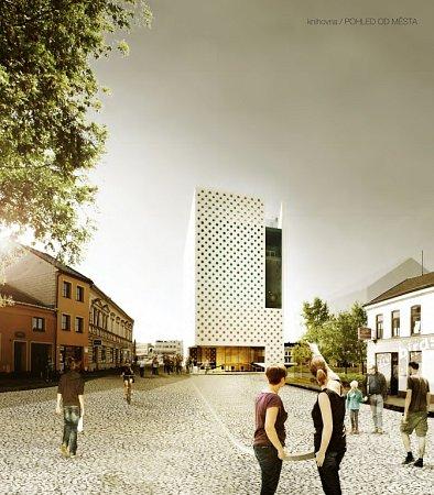 Návrh podoby knihovny od Ondřeje Stehlíka