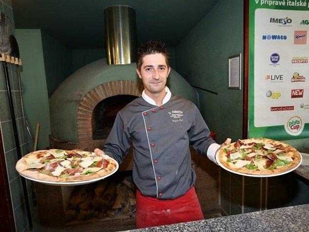 Petr Čéč, držitel třetího místa v soutěž Pizza-cup 2012
