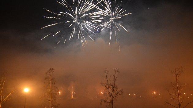 Přerov vstoupil do nového roku 2020 velkolepým ohňostrojem
