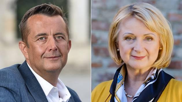 Petra Vrána (ANO) a Jitka Seitlová (KDU-ČSL) - postupující do 2. kola senátních voleb na Přerovsku