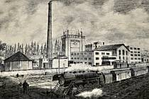 Historický snímek továrny Kazeto
