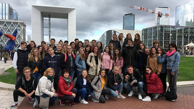 Studenti Obchodní akademie Přerov vyrazili do Paříže.