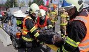 Regionální soutěž hasičů ve vyprošťování v Přerově