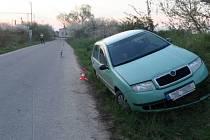 Havárie opilé řidičky fabie v Brodku u Přerova