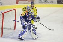 Hokejisté Přerova (v modrém) porazili Ústí nad Labem.