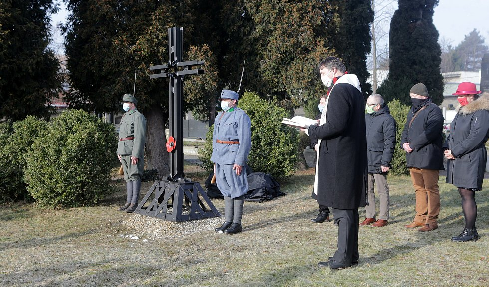 Nový kříž na městském hřibově v Lipníku nad Bečvou připomíná oběti ze zdejších lazaretů z období Velké války