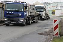 Výtluky v Tovární ulici v Přerově