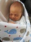 Michal Adámek, Kozlovice, narozen dne 6. června vPřerově, míra 50 cm, váha 3006 g