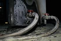Hasiči likvidovali v úterý odpoledne požár agregátu, který způsobil zaměstnanec firmy v administrativní budově Českých drah v Přerově