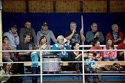 Volejbalistky Přerova (v modrém) nestačily na pražský Olymp.