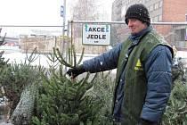 Lidé v Přerově začali kupovat ve velkém vánoční stromky – k mání jsou jak v ohradě v Mostní ulici, tak vedle restaurace U hrochů v centru města. Nepřeberné množství druhů nabízí i supermarkety