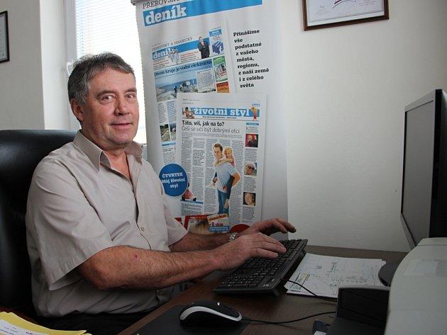 Ředitel pekárny Racek Václav Vrána při on-line rozhovoru