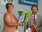 Na předávání ocenění v Radslavicích se radovala i starostka obce Rouské Miluše Stržínková