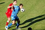 Fotbalisté Přerova (v modrém) proti Polné