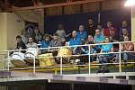 Čtvrté čtvrtfinále volejbalové extraligy žen mezi Přerovem (v bílém) a Prostějovem.
