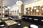 Takto by se měla změnit tvář interiéru kavárny a restaurace Městského domu v Přerově.